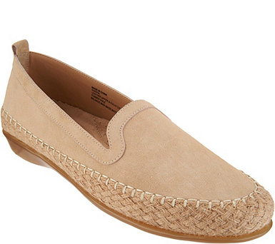 Vaneli Choice of Suede or Cork Slip On Espadrille Flats - Niobe - A303781
