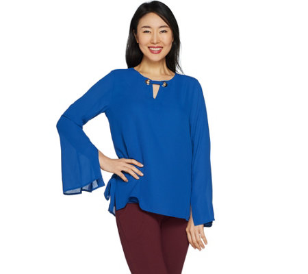 """As Is"" Laurie Felt Blouse with Link Neck Detail"