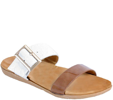 Nomad Patent-Look Sandals - Capri