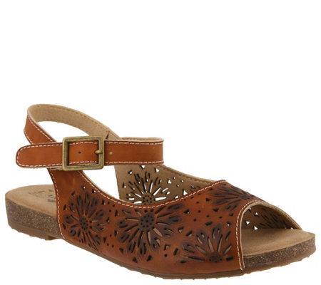 L'Artiste by Spring Step Leather Sandals - Shiela