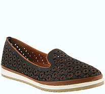 Spring Step Leather Slip-On Loafers - Tulisa - A364181