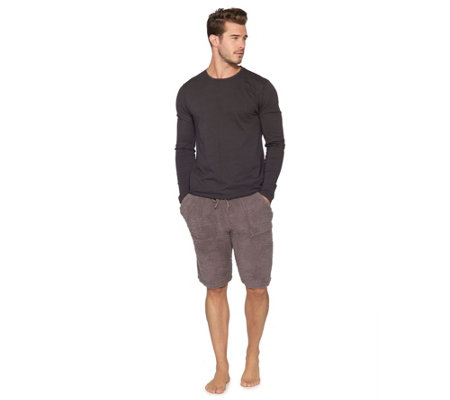 Barefoot Dreams Men's Long Sleeve Washed Crew T ee