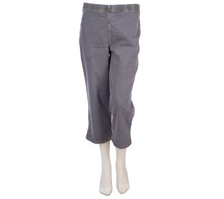 Denim & Co. Original Waist Stretch Denim Pull-on Crop Pants