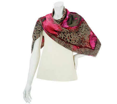 Jungle Paint Square Scarf