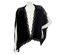 Nicole Richie Collection Open Front Cardigan with Lace Trim - A228682