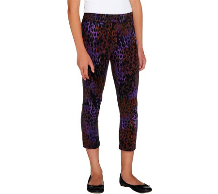 LOGO Littles by Lori Goldstein Knit Cropped Pull-On Leggings