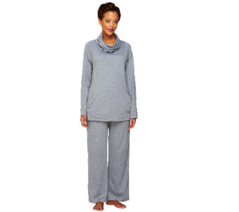 Carole Hochman Heathered Interlock 2 Piece Lounge PJ Set - A256282