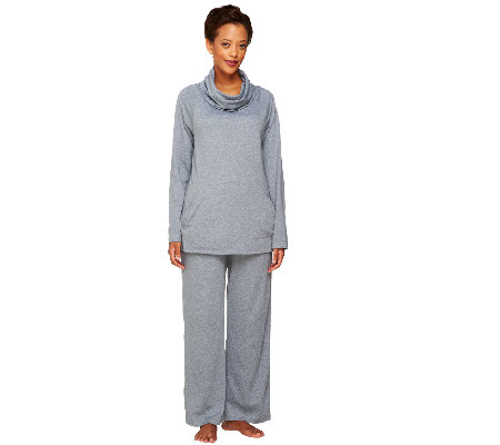 Carole Hochman Heathered Interlock 2 Piece Lounge PJ Set