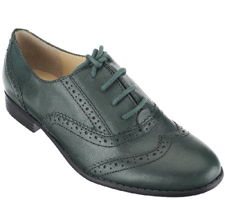 Isaac Mizrahi Live! Classic Leather Oxfords