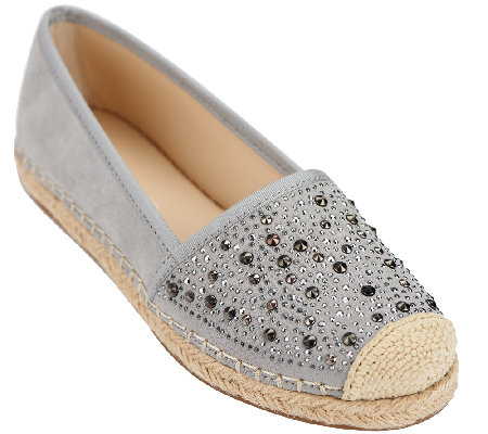 Franco Sarto Suede Slip-on Espadrille with Studs - Twlight