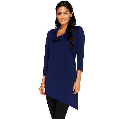 """As Is"" Susan Graver Premier Knit Asymmetrical Hem Tunic"