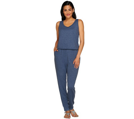 """As Is"" LOGO Lounge by Lori Goldstein Sleeveless Jumpsuit"