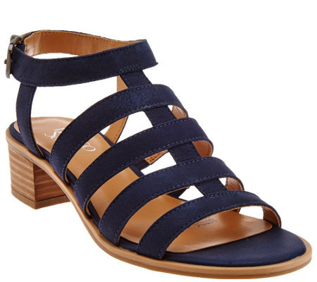 Franco Sarto Leather Multi-strap Sandals - Oriele