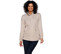Lisa Rinna Collection Zip Front Anorak Jacket with Pockets - A274682