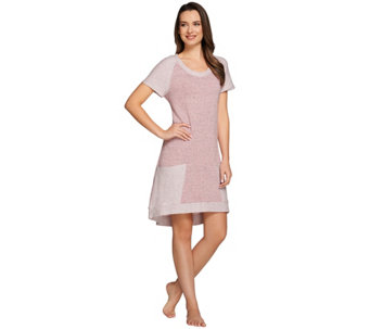 AnyBody Loungewear French Terry Tunic Dress with Pockets - A275082