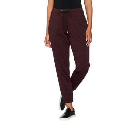 H by Halston Petite Full Length Pull-On Tapered Jogger Pants