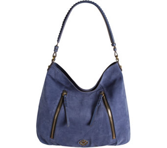 orYANY Italian Suede Hobo with Zipper Details - Laurie - A281082