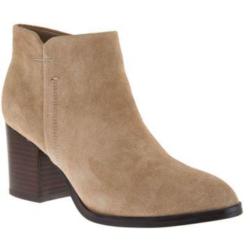 Marc Fisher Suede Block Heel Ankle Boots - Vandra