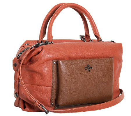 """As Is"" orYANY Italian Grain Leather Satchel - Tanya"