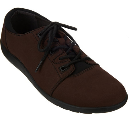 Clarks Nubuck Leather Lace-up Shoes - Medora Bella