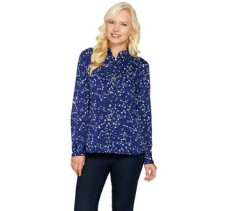 "C. Wonder Constellation Print ""Carrie"" Blouse - A284182"