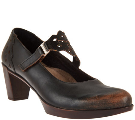 Naot Leather Mary Jane Pumps - Amato