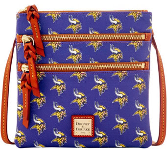 Dooney & Bourke NFL Vikings Triple Zip Crossbody - A285682