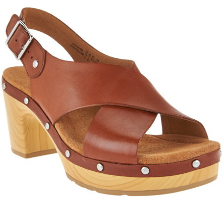 Clarks Artisan Leather Slingback Sandals - Ledella Club