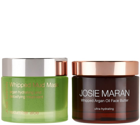 Josie Maran Whipped Argan Face Butter & Cucumber Mud Mask Duo