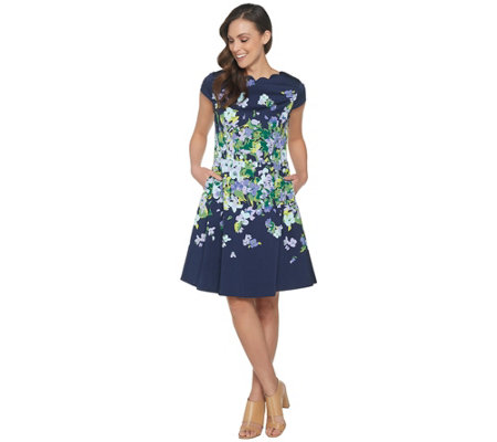 Isaac Mizrahi Live! Floral Fit & Flare Dress
