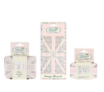 The Vintage Cosmetic Company Pink Flag Set - A355682