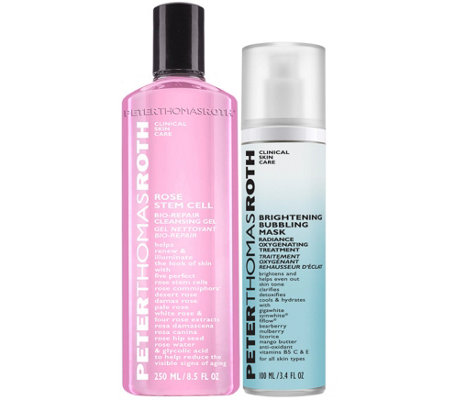 Peter Thomas Roth Rose Cleanser and Bubbling Mask Duo