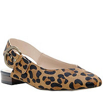 Sole Society Leather Slingback Flats - Topanga - A361182