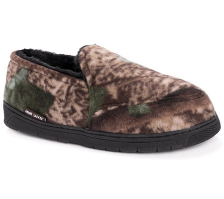 QuietWear Men's Camo Espadrille with Fur Lining