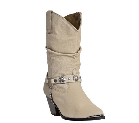 Dingo Leather Cowboy Boots - Olivia