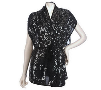 The Paillette Shimmer Scarf Vest by VT Luxe - A214083