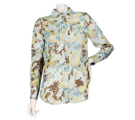 K-DASH by Kardashian Printed Oversize Button Front Shirt