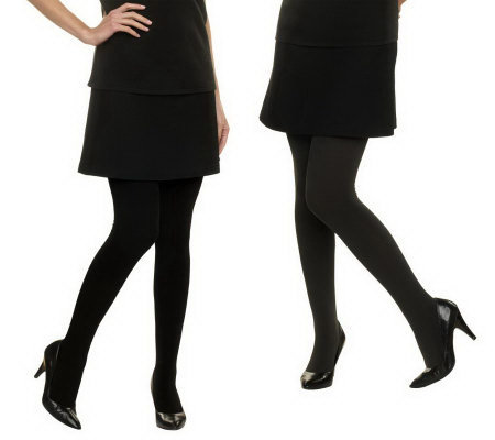 Legacy Set of 2 Flip Side Fleecy Tights