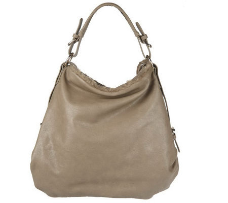 V Couture by Kooba Zip-Top Hobo with Faux Fur Trim