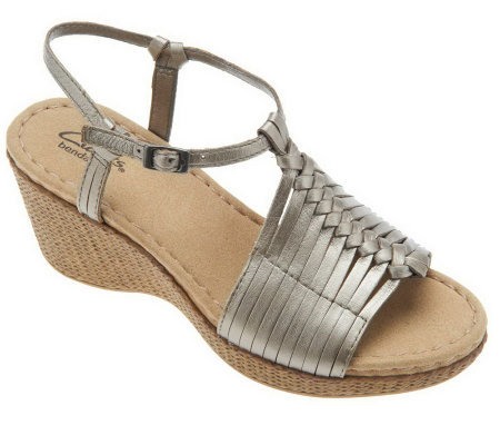 Clarks Bendables Lilly Hip Multi-Strap Wedge Sandals