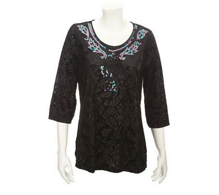 Kirks Folly Fairyland Fantasy Burnout Tunic