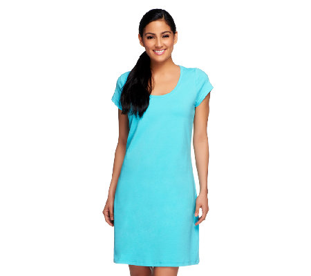 Isaac Mizrahi Live! Scoop Neck Short Sleeve Knit Dress
