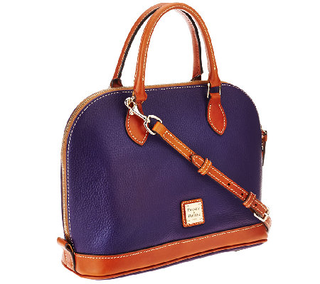"""As Is"" Dooney & Bourke Pebble Leather Zip Zip Satchel"