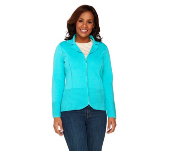 Linea by Louis Dell'Olio Notch Collar Knit Cardigan - A263783