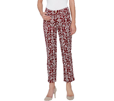 Liz Claiborne New York Jackie Straight Printed Ankle Jeans