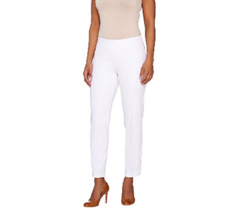 Kelly by Clinton Kelly Regular Double Stretch Pull-On Ankle Pants - A266483