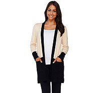 Linea by Louis Dell'Olio Whisper Knit Color-Block Cardigan - A267883