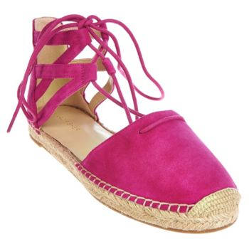 Marc Fisher Leather or Suede Lace-up Espadrilles - Misses