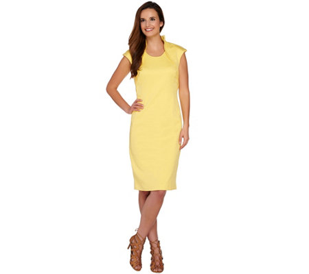 G.I.L.I. Shoulder Detail Sheath Dress