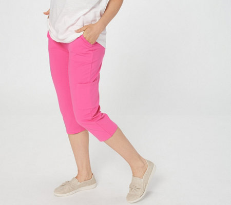 Denim & Co. Active French Terry Cargo Capri Pants